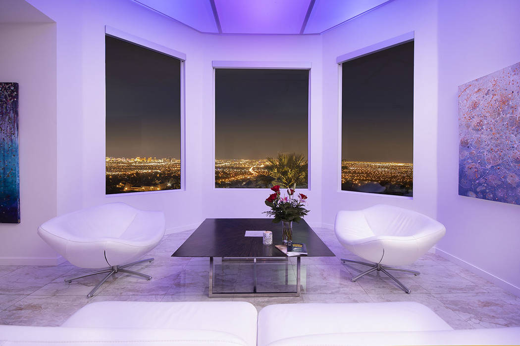 A sitting area over looks the valley. (Sotherby's International Realty, Synergy)