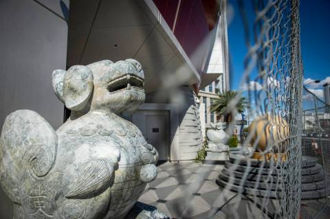 The Lucky Dragon remains closed in Las Vegas, Monday, April 22, 2019. (Caroline Brehman/Las Veg ...