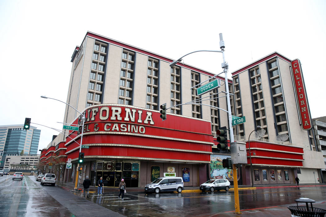 The California Hotel in downtown Las Vegas Tuesday, Jan. 15, 2019. K.M. Cannon Las Vegas Review ...
