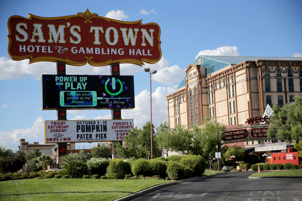 Sam's Town in Las Vegas Wednesday, Oct. 3, 2018. K.M. Cannon Las Vegas Review-Journal @KMCannon ...