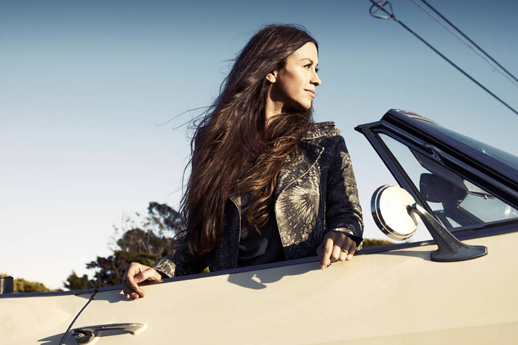 Alanis Morissette, performing Friday at Pearl at the Palms, is shown in a promotional photo. ( ...