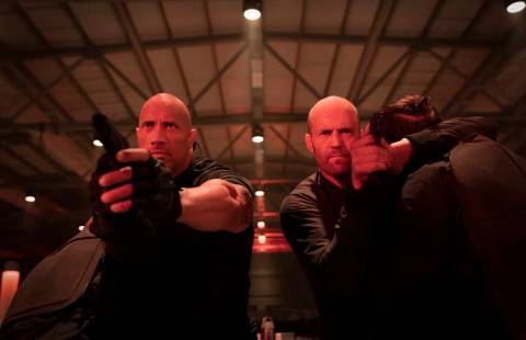 "Luke Hobbs (Dwayne Johnson) and Deckard Shaw (Jason Statham) in ""Fast & Furious Presents: Hobbs ..."