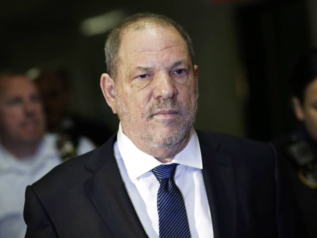 FILE - In this Oct. 11, 2018 file photo, Harvey Weinstein enters State Supreme Court in New Yor ...