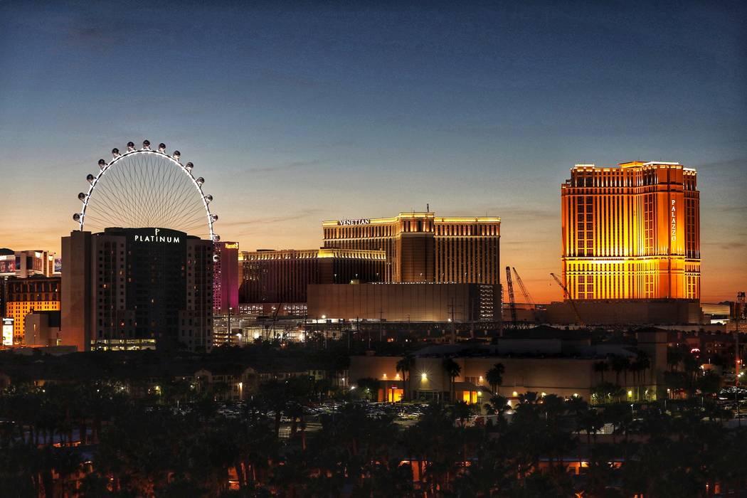 A skyline of the Las Vegas Strip as seen Wednesday, April 17, 2019. (Todd Prince/Las Vegas Revi ...
