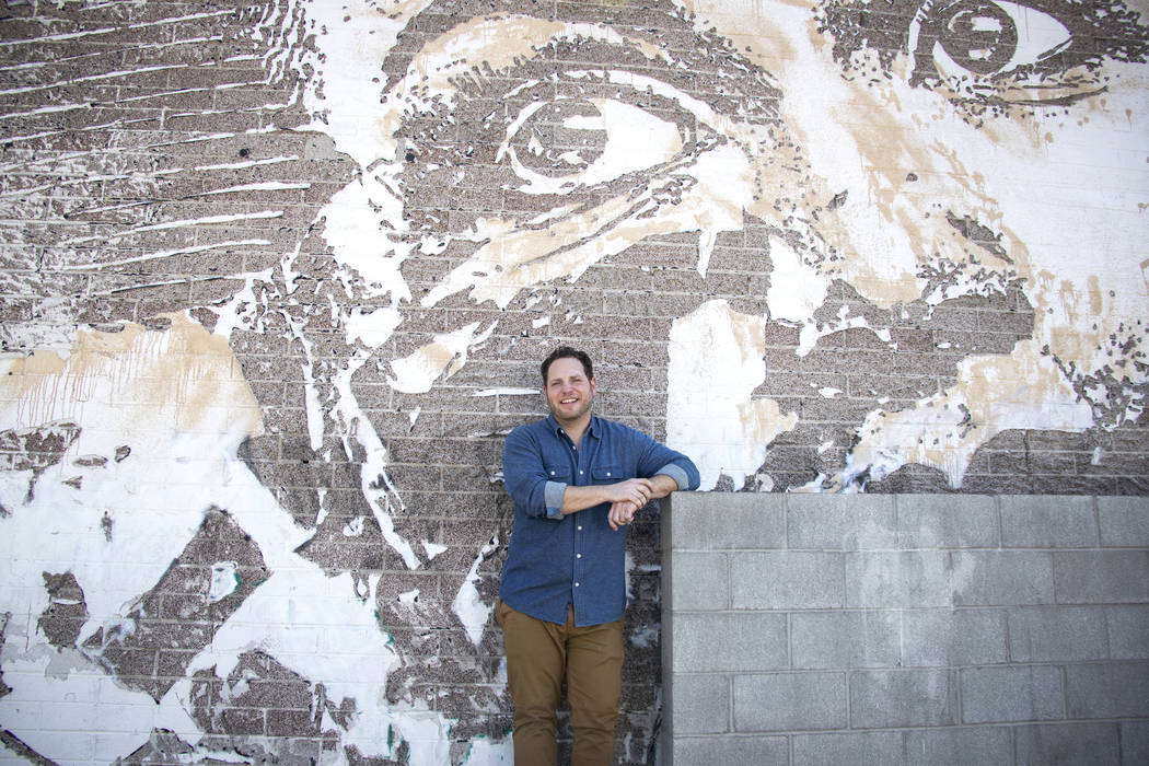 Craig Asher Nyman, head of music and live performances for Life is Beautiful, poses in front of ...
