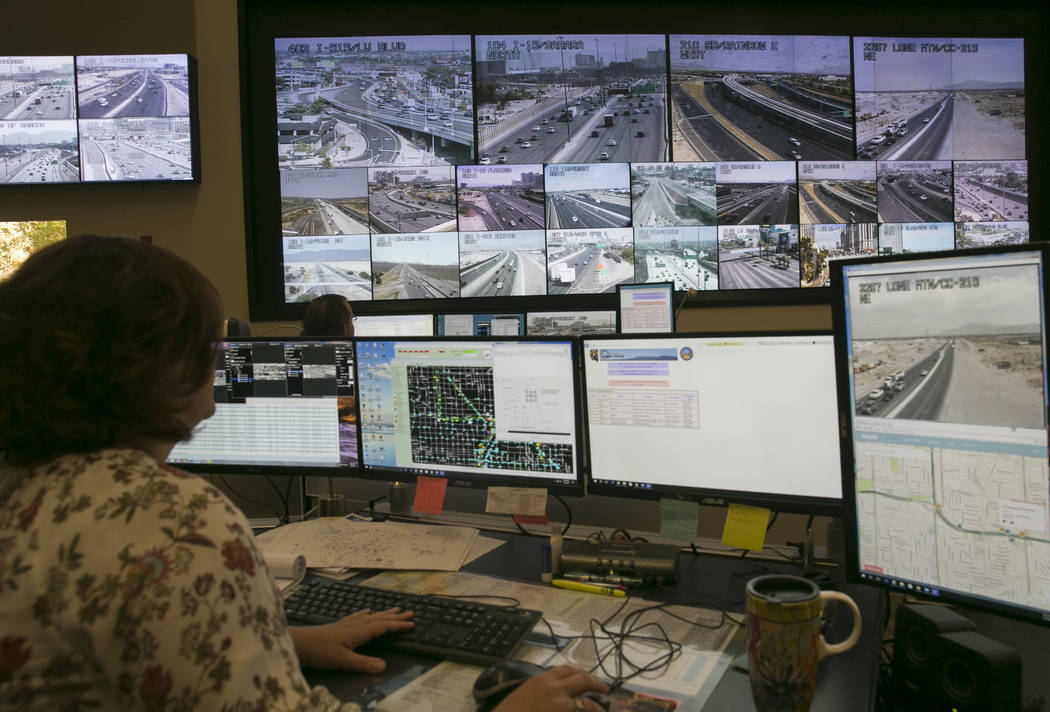 The Traffic Management Center, operated by the Regional Transportation Commission of Southern N ...