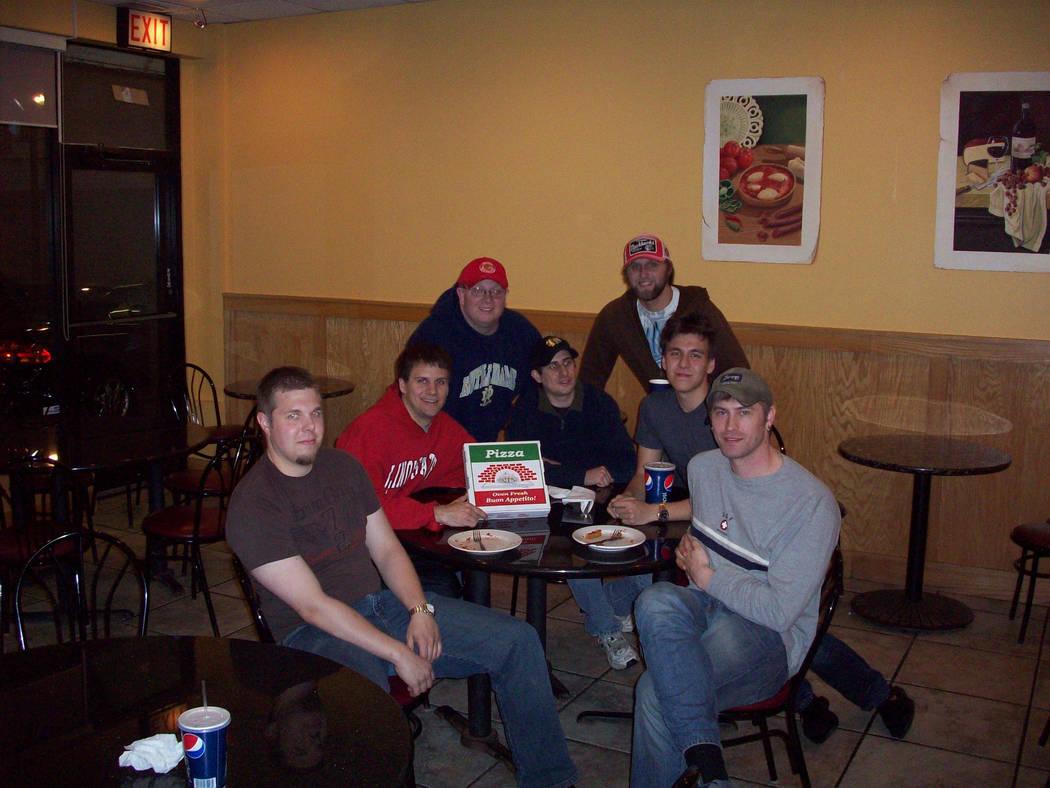 Left to right, Matt Croxall, Brad Phillips, Jake Moore, Steve Phillips, Andrew Cook, James Holz ...
