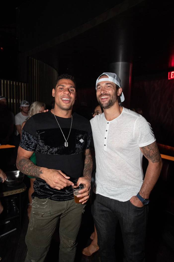Ryan Reaves, left, and Derek Endelland of the Vegas Golden Knights are shown at the team's seas ...