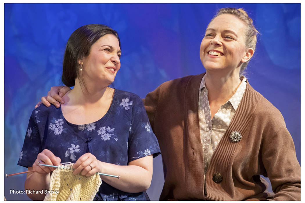 "Alice B. Toklas (Athena Mertes) and Gertrude Stein (Kimberly Gratland James) in ""27"" at Cockroa ..."