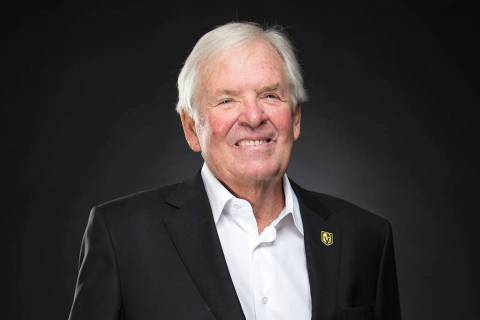 Vegas Golden Knights owner Bill Foley poses at the Review-Journal's photo studio in Las Vegas o ...