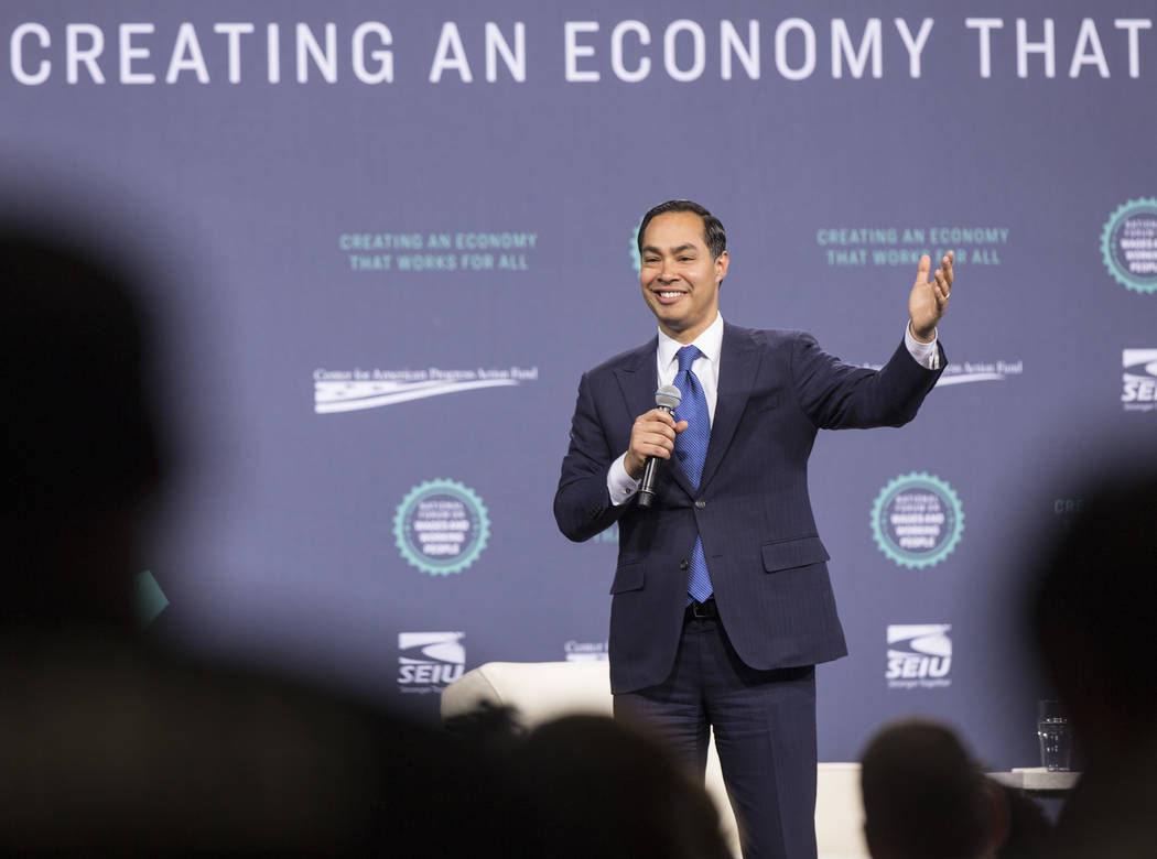 Julian Castro, former U.S. Secretary of Housing and Urban Development and current presidential ...