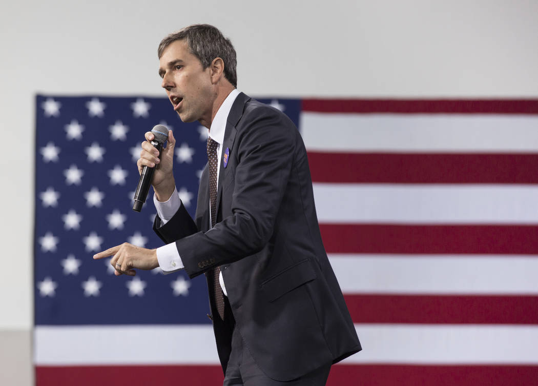 "Presidential candidate and former Texas congressman Beto O'Rourke speaks during ""Nationa ..."