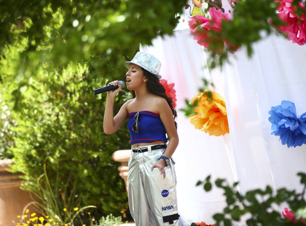 Montserratt Luna-Gomez performs during the 10th annual Dia del Nino event at the Springs Preser ...