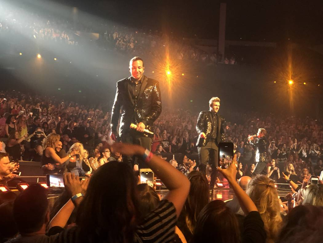 """The Backstreet Boys' are shown at their final """"Larger Than Life"""" residency show at Zappos Theat ..."""