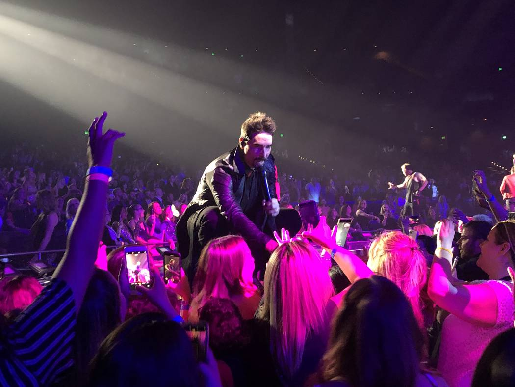 """Kevin Richardson is shown at the Backstreet Boys' final """"Larger Than Life"""" residency show at Za ..."""