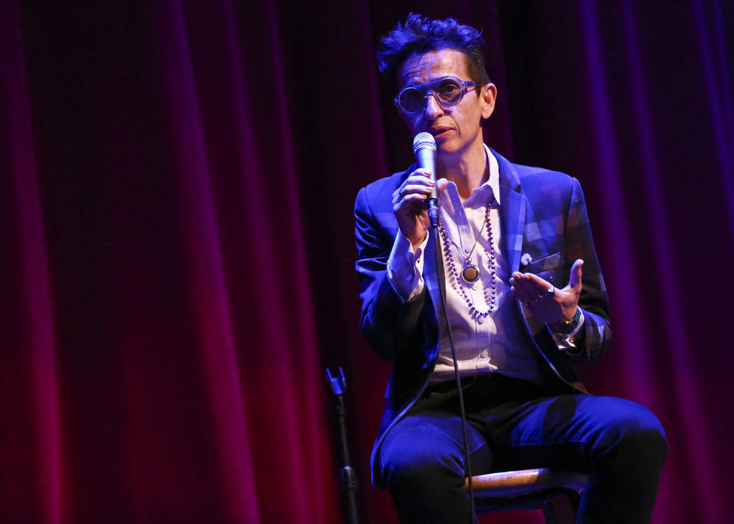 """Masha Gessen, staff writer at The New Yorker, speaks during """"UPROAR,"""" the finale even ..."""