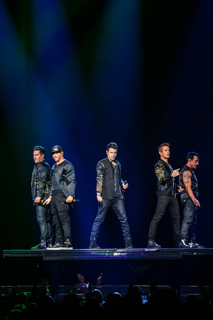 New Kids on the Block in Las Vegas. (Brenton Ho/Powers Imagery for T-Mobile Arena)