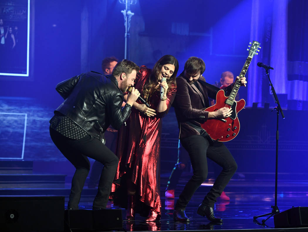 Lady Antebellum performs at the Pearl at the Palms on Friday, Feb. 8, 2019, in Las Vegas. (Deni ...