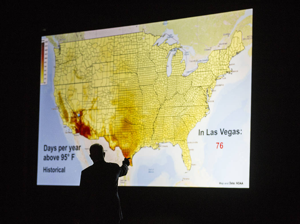 Former U.S. Vice President Al Gore, bottom/left, discusses climate change on Tuesday, April 30, ...