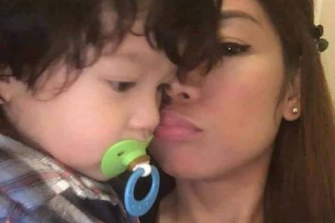 An undated photo of Karen Gotidoc Lopez, right, and her 4-year-old son, Brandon Kelvin. (GoFundMe)