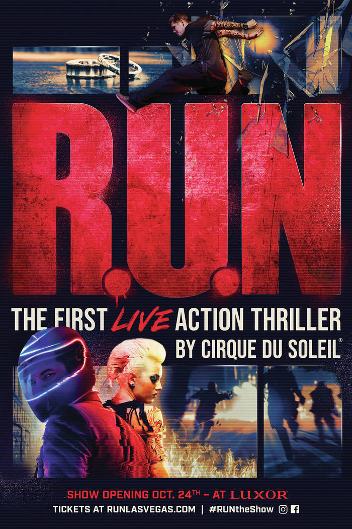 """A promotional image for the new Cirque du Soleil show """"R.U.N."""" The production opens Oct. 24 at ..."""