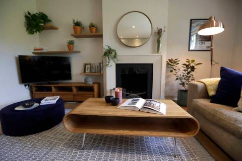 A Sept. 28, 2018, file photo shows the living room of a flat that will be available for short t ...