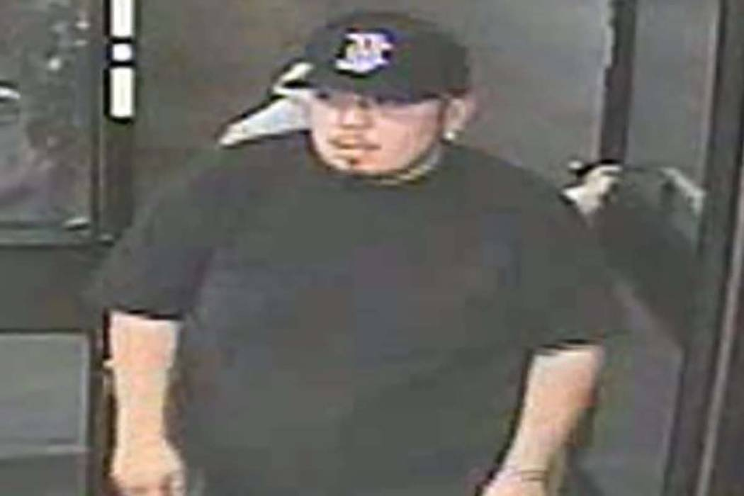 Las Vegas police are searching for two men who robbed a convenience store Sunday, April 28, 201 ...