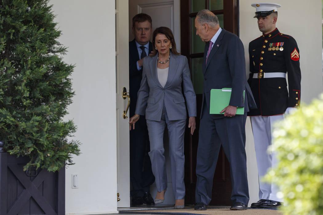 Speaker of the House Nancy Pelosi of Calif., and Senate Minority Leader Sen. Chuck Schumer of N ...