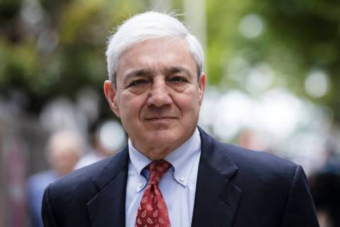 FILE - In this June 2, 2017, file photo, former Penn State President Graham Spanier departs aft ...