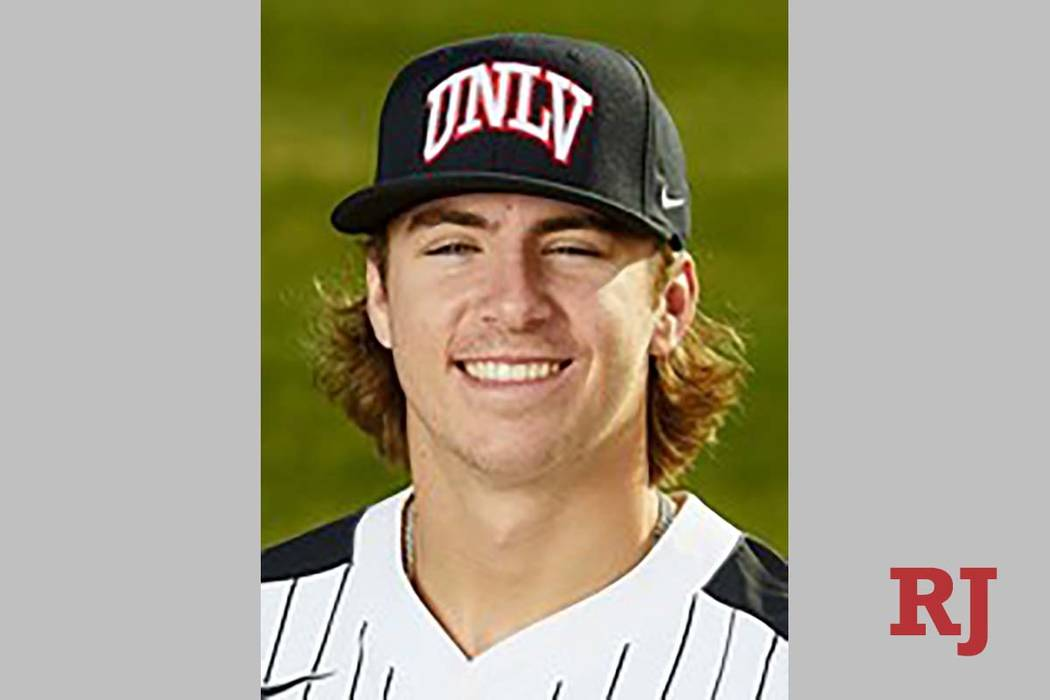 UNLV designated hitter Bryson Stott went 3-for-4 with a three-home run in a loss Tuesday, April ...