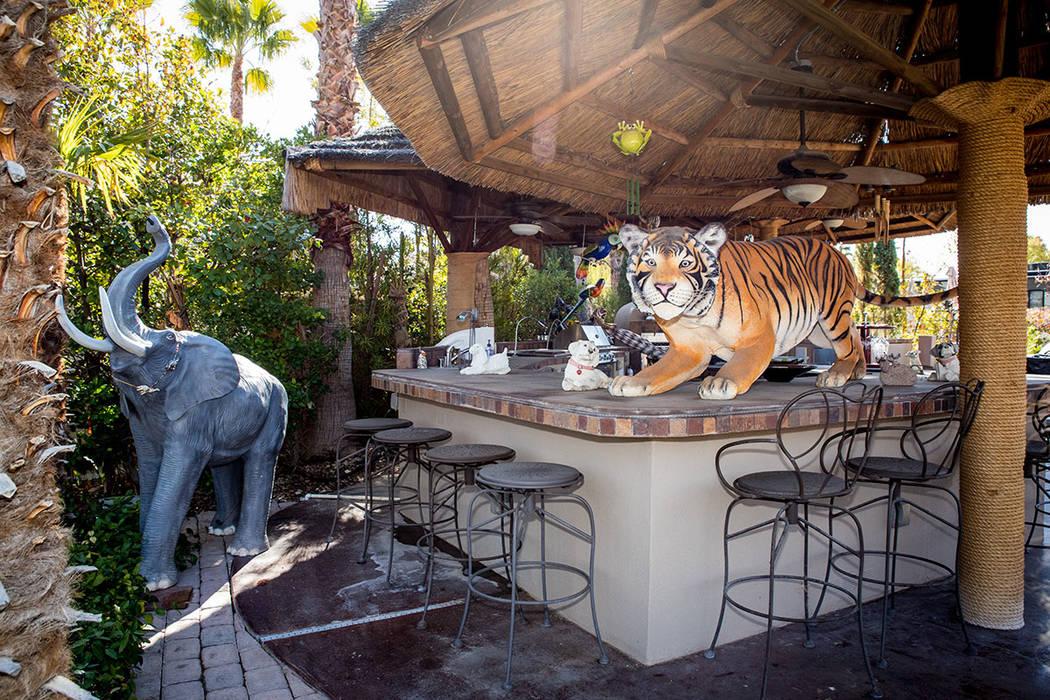An lot owner at Las Vegas Motorcoach has turned part of his space into a Safari bar. (Tonya Har ...