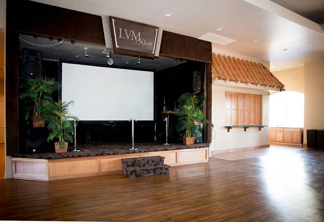The lounge has a stage for performances. (Tonya Harvey Real Estate Millions)