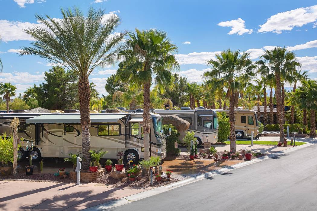 At the Las Vegas Motorcoach Resort, buyers can purchase a docking station for their tricked-out ...