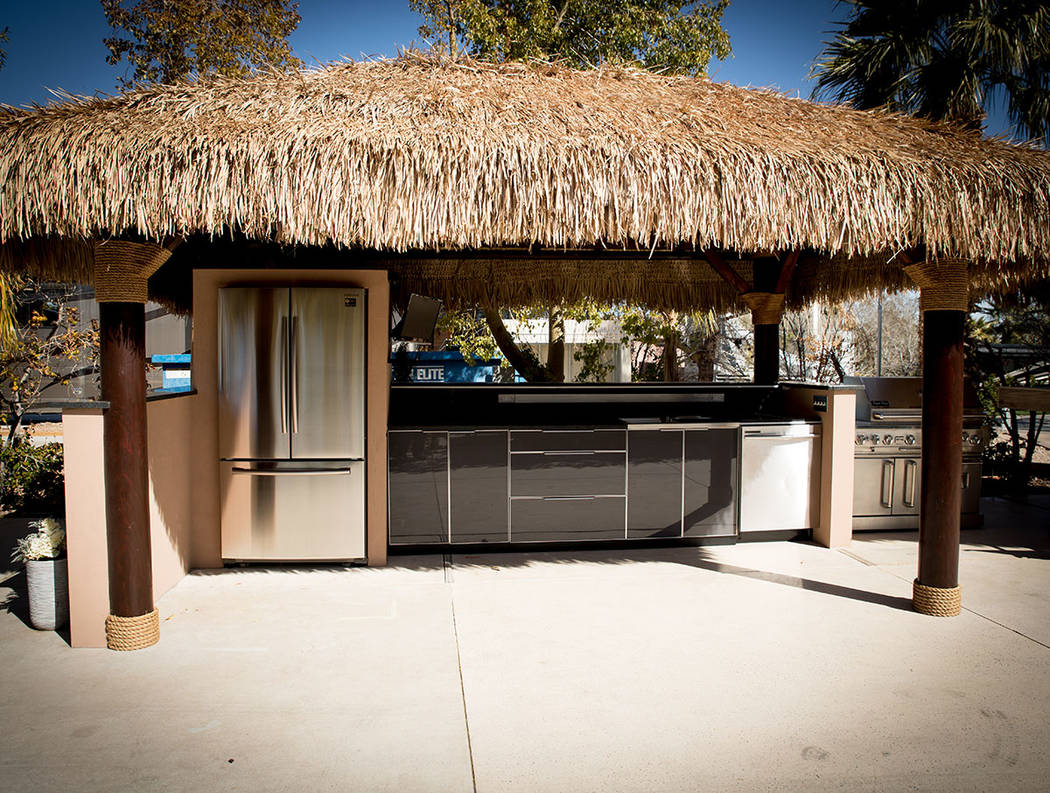 Some of the lot owners shade their outdoor kitchens. (Tonya Harvey Real Estate Millions)