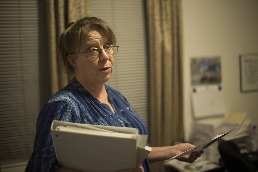 Rhonda Hunnel speaks to the Review-Journal about her daughter Regina Kreiger at her home in Hen ...