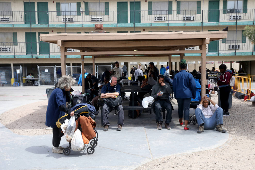 The City of Las Vegas Courtyard Homeless Resource Center Thursday, April 11, 2019. (K.M. Cannon ...