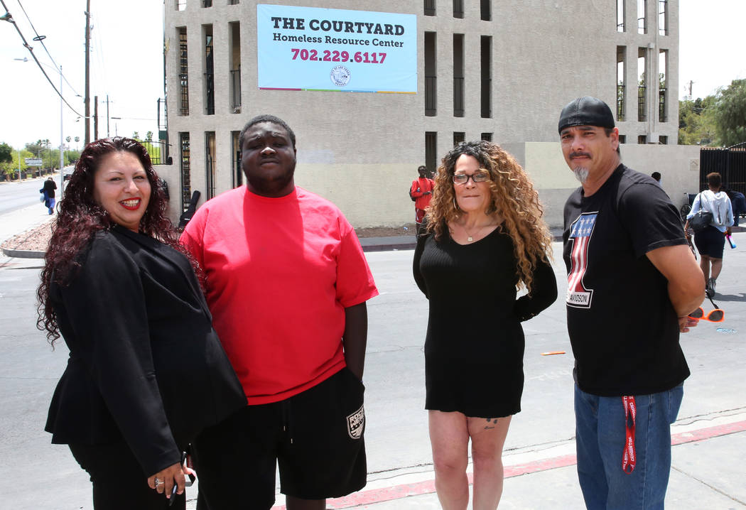 Mary Felix, left, Marquan Ellis, Kendra Strong and Justin Gore-Alabama, right, all terminated e ...