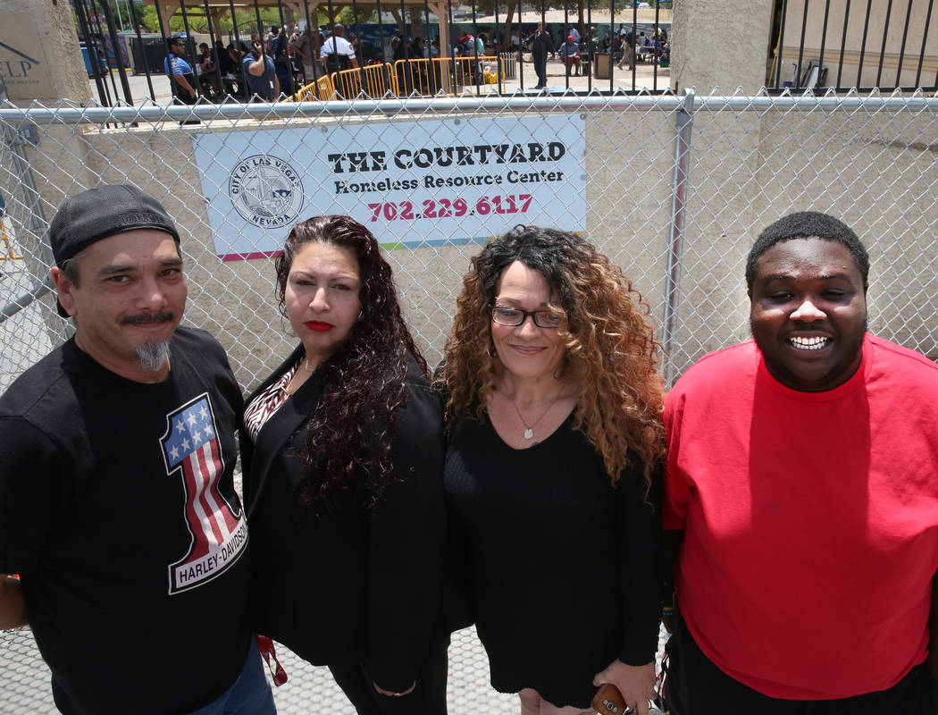 Justin Gore-Alabama, left, Mary Felix, Kendra Strong and Marquan Ellis, right, all terminated e ...