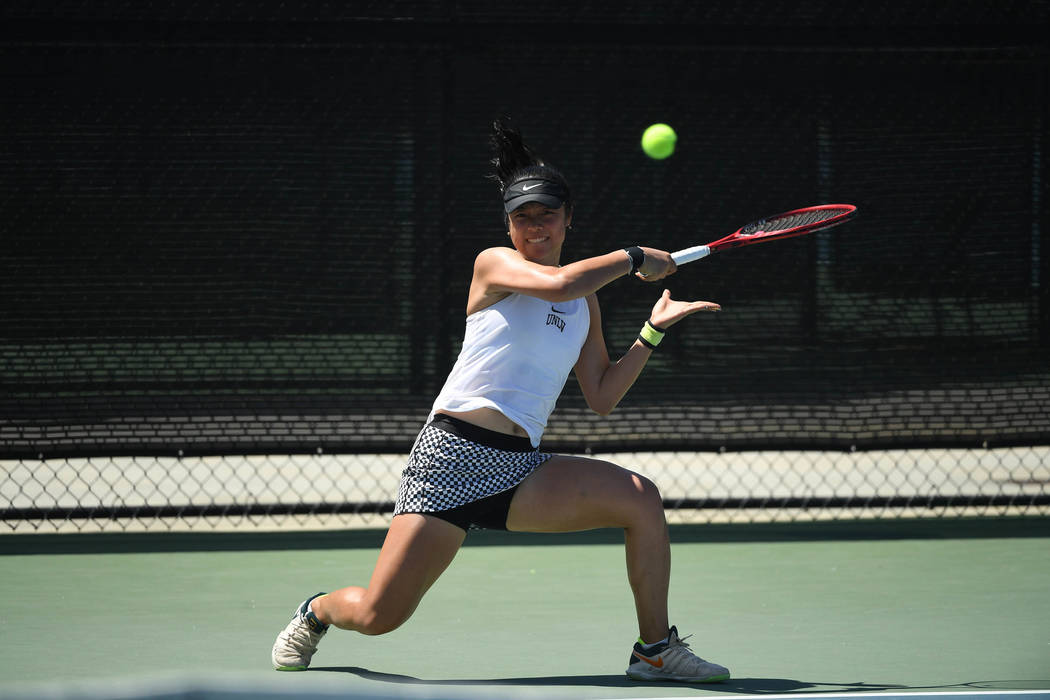 Aiwen Zhu, shown last month, is the fourth UNLV women's tennis player to advance to the NCAA si ...
