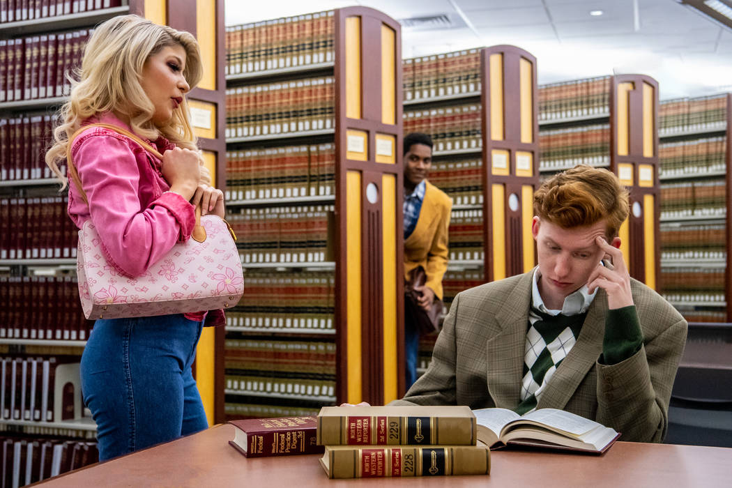 """Katie Marie Jones as Elle, Maurice-Aime Green as Emmet and Ryan Baker as Warner in """"Legall ..."""