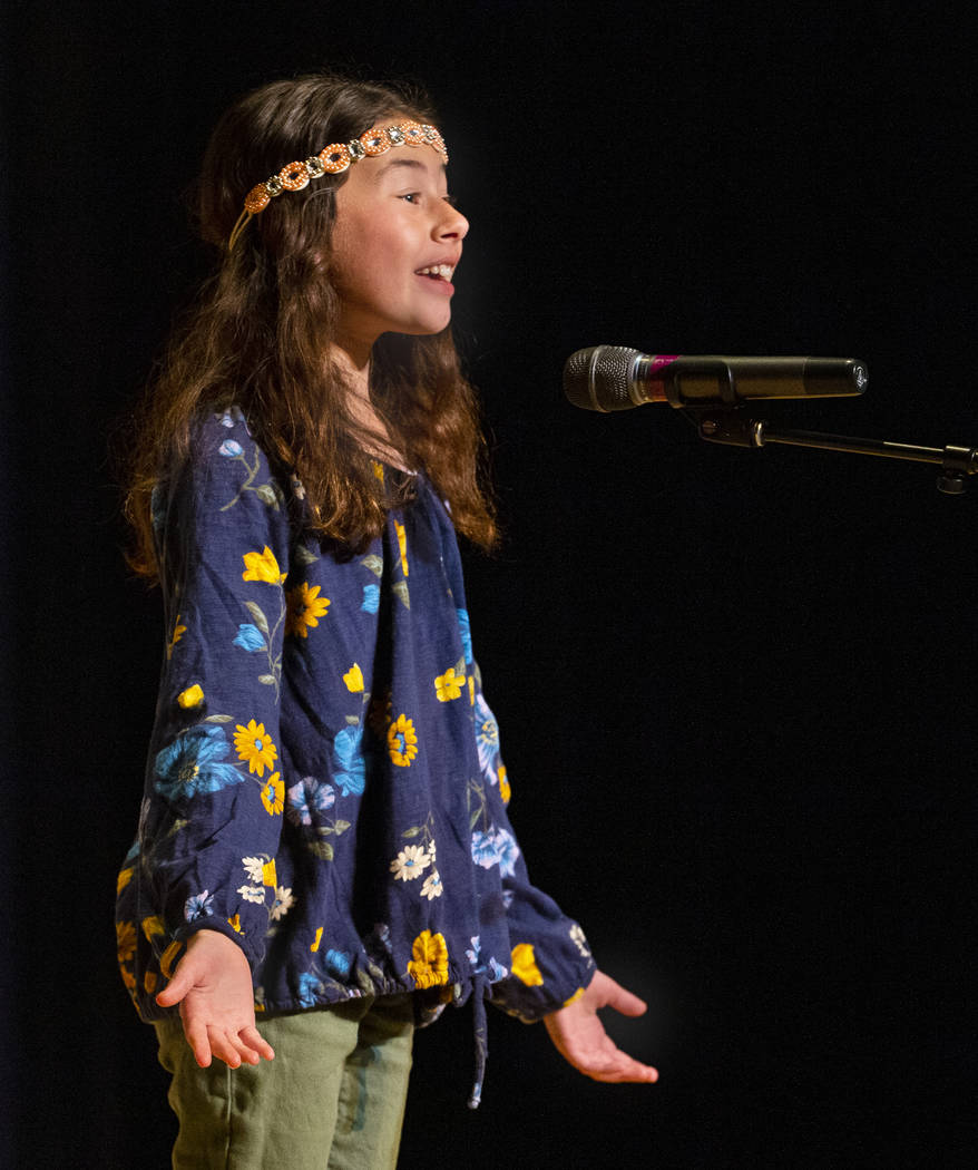 """Goolsby Elementary School student Rachel Feigenson performs """"Knuffle Bunny"""" during t ..."""