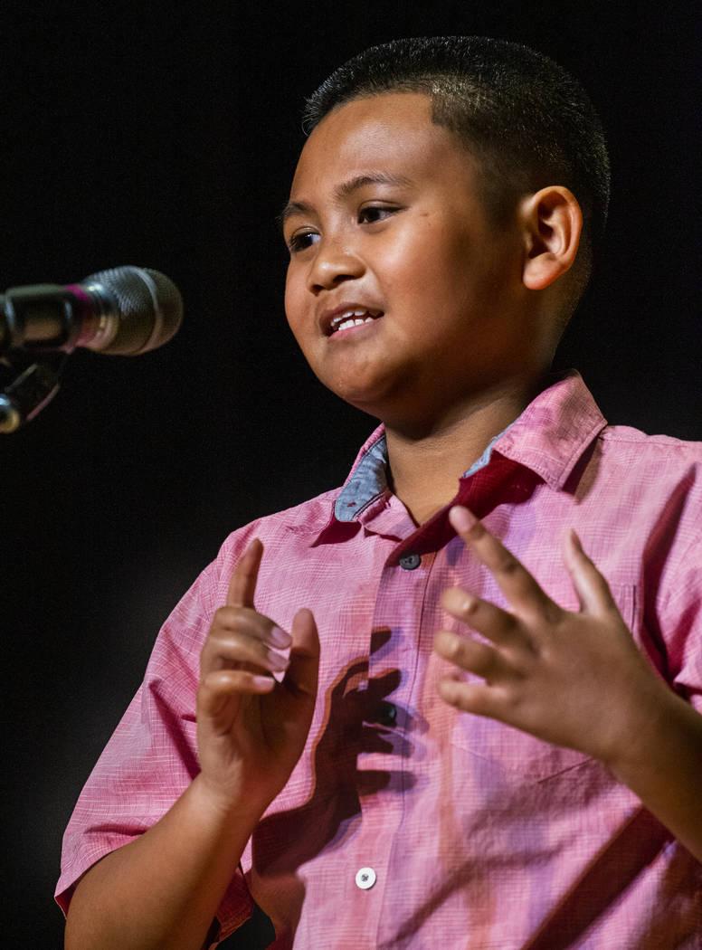 "Tanaka Elementary School student. Sean Lalangan performs ""Master of All Masters"" duri ..."