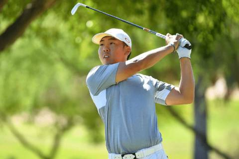 UNLV junior Justin Kim lost a three-way playoff Monday, May 27, 2019, at Blessings Golf Club in ...