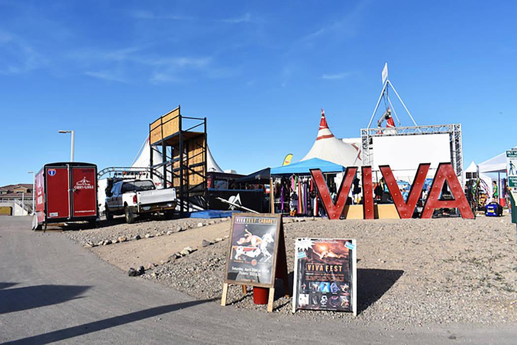 Viva Fest set up at Cornerstone Park in Henderson on Thursday, April 18. Rachel Spacek/ Las Veg ...