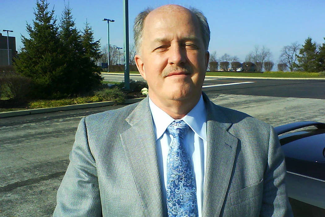 A photo of John Thomas taken in 2009 by a former co-worker and sent to the Review-Journal. The ...