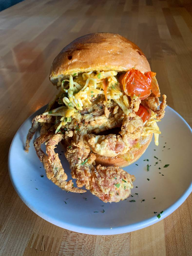 Soft-shell crab po'boy at Other Mama. (Other Mama)