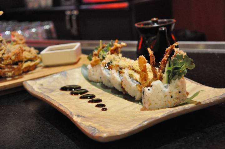 Soft-shell crab roll at Red Sushi at the Golden Nugget. (Golden Nugget)