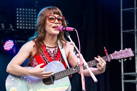 This July 14, 2018 file photo shows Jenny Lewis performing at the Forecastle Music Festival in ...