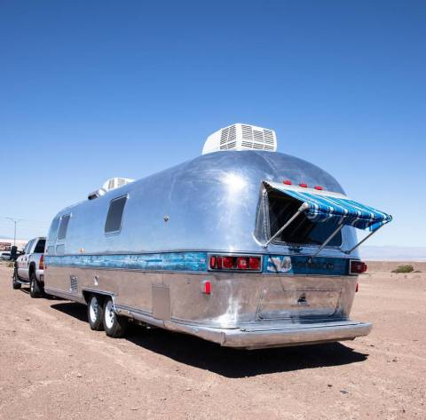 "Findlay Customs found this ""totaled"" 1976 Airstream trailer on Craigslist and turned it int ..."