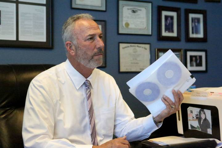 In an interview in his office on Monday, May 6, 2019, Clark County District Attorney Steve Wolf ...